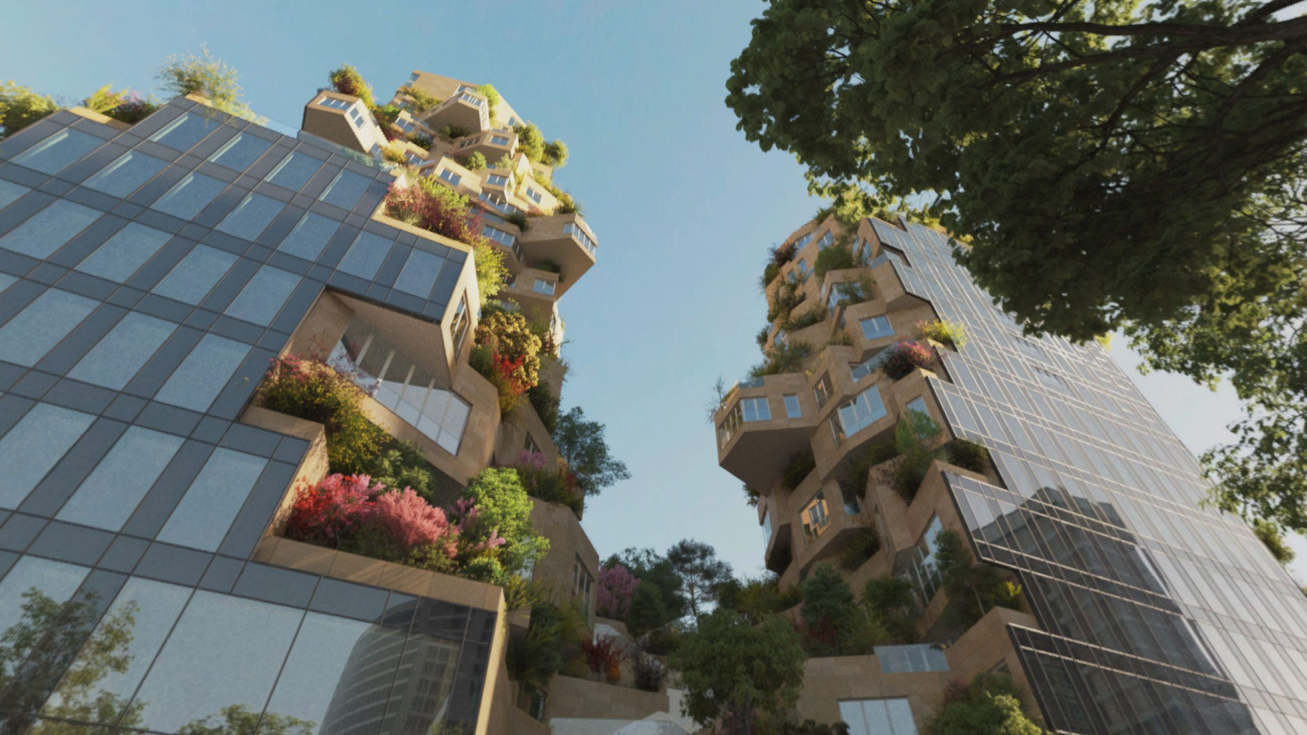 Visualization of apartment blocks